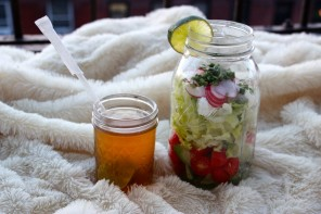 Clem Cooks : Food In Jars, Salad and Iced Tea !